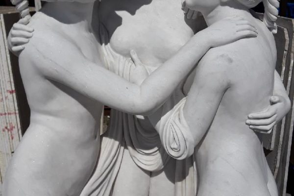 The 3 Graces of Greek Mythology #Charm #Beauty & #Creativity @haifalimestone carved from the finest Carrara Marble. Call today for pricing 561-683-0082 or Visit our Showroom & Factory for a tour. 1891 Old Okeechobee Road West Palm Beach, FL 33409